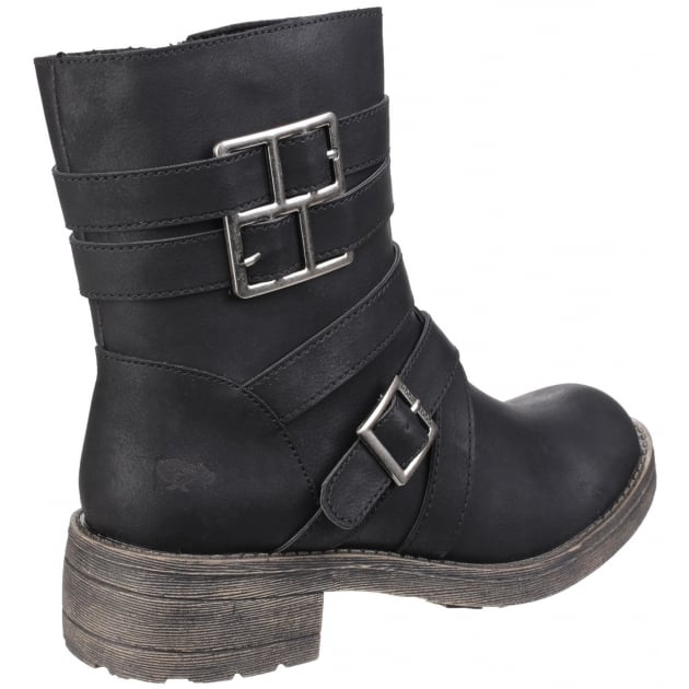 Rocket Dog Throttle Zip Up Black Boots