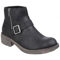 Rocket Dog Thyme Zip Up Black Boots