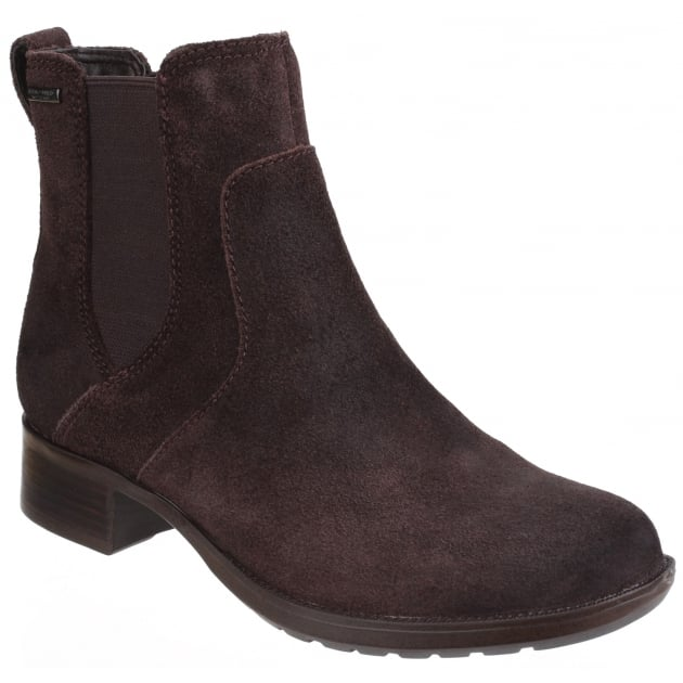 Rockport Copley Christine Waterproof Pull On Ankle Boot Brown
