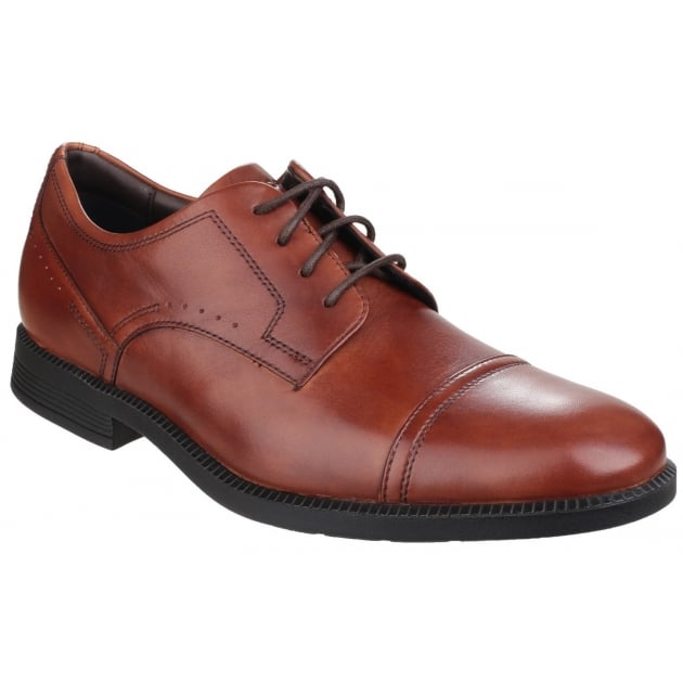DresSports Modern Cap Toe Lace Up Brown Shoes