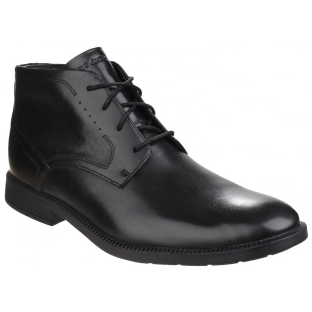 Rockport DresSports Modern Chukka Lace Up Black Boots