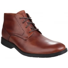 Rockport DresSports Modern Chukka Lace Up  Brown Boots