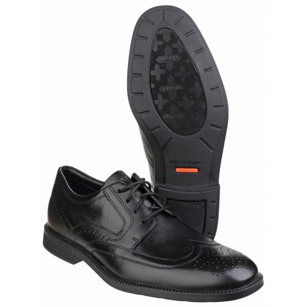Rockport DresSports Modern Wingtip Lace Up Black Shoes
