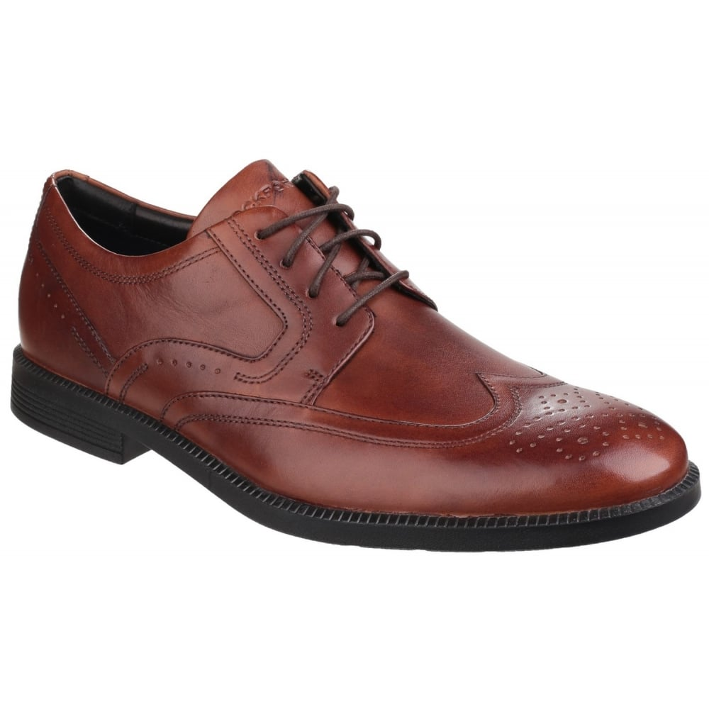 Modern wingtip lace up men s brown shoes free returns at shoes co uk