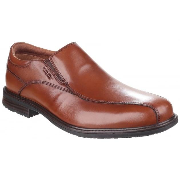Rockport Essential Details II Bike Toe Oxford Slip On Tan Shoes