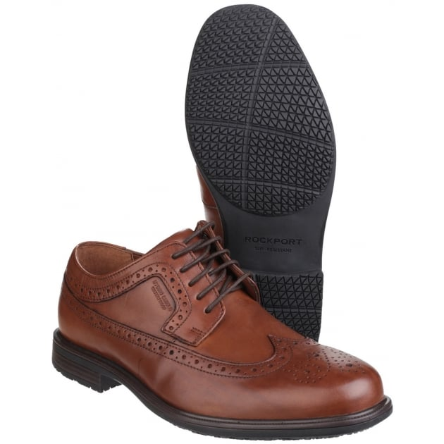 Rockport Essential Details II Wingtip Lace Up Tan Shoes