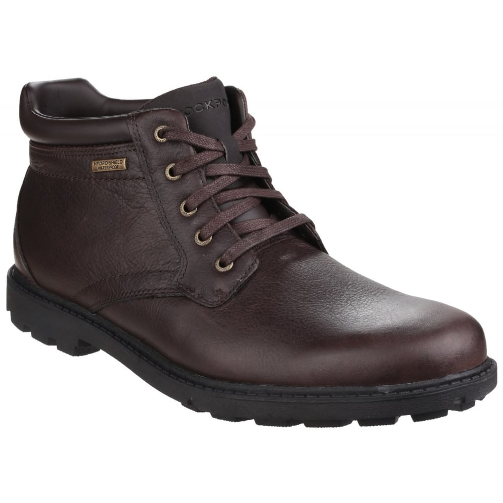 rockport rugged bucks waterproof lace up s brown