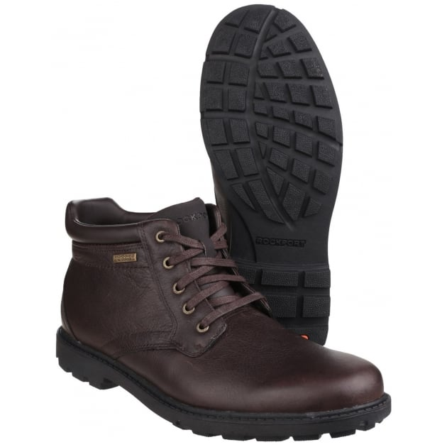 Rockport Rugged Bucks Waterproof Lace Up Dark Brown Boots