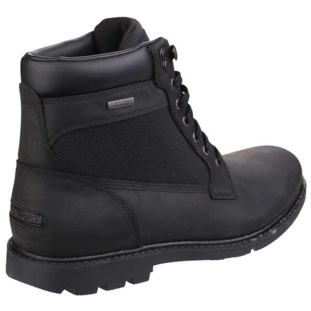 Rockport Rugged Bucks Waterproof Lace Up High Black Boots