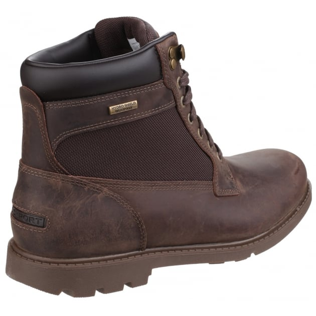 Rugged Bucks Waterproof Lace Up High Dark Brown Boots