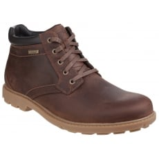 Rockport Rugged Bucks Waterproof Lace Up Tan Boots