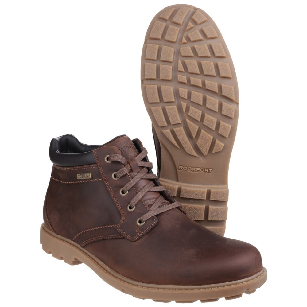 rockport rugged bucks waterproof lace up s boots