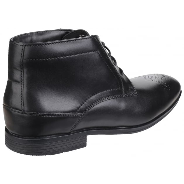 Style Connected Lace Up Chukka Black Boots