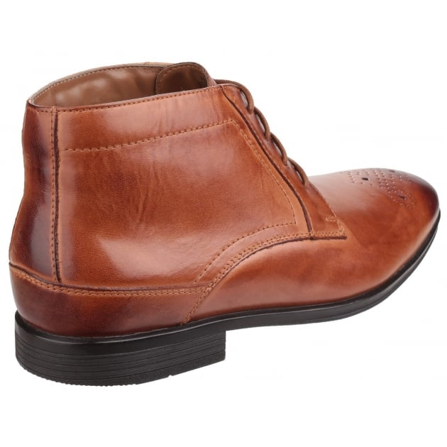 Style Connected Lace Up Chukka Cognac Boots