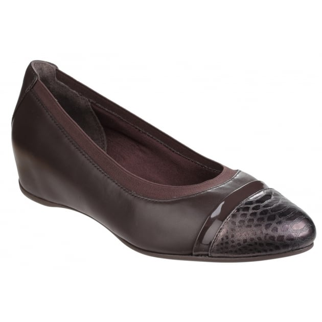 Rockport Total Motion Esha Evan Layer Slip On Wedge Pump Dark Granite
