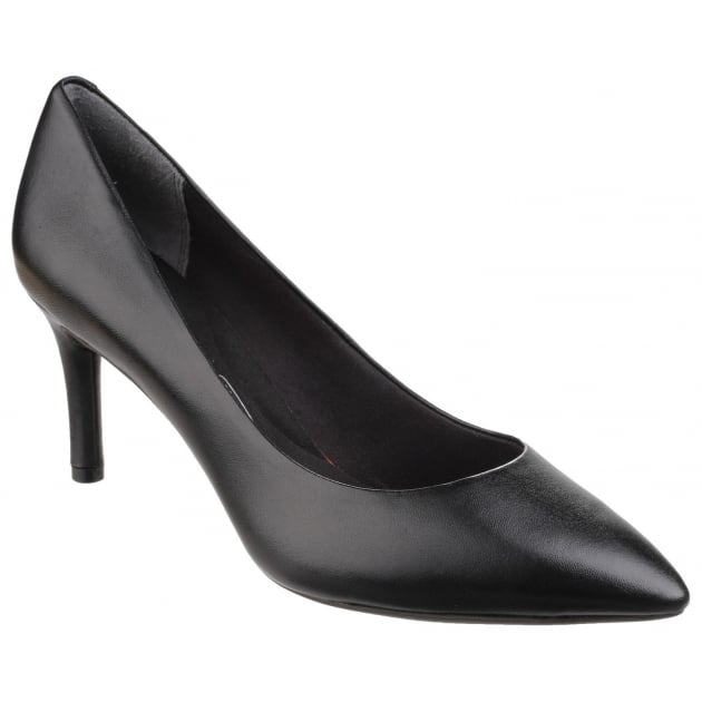 Total Motion Pointy Toe Slip On Stiletto Pump Black