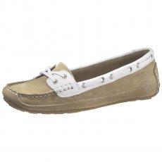 Sebago Ladies Bala B61061 Taupe/Suede White Shoes