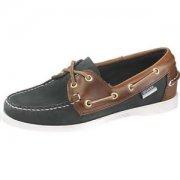 Sebago Ladies Spinnaker B58168 Blue/Dark Brown Shoes