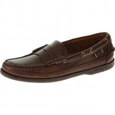 Sebago Sloop B70384  Brown Waxy Shoes