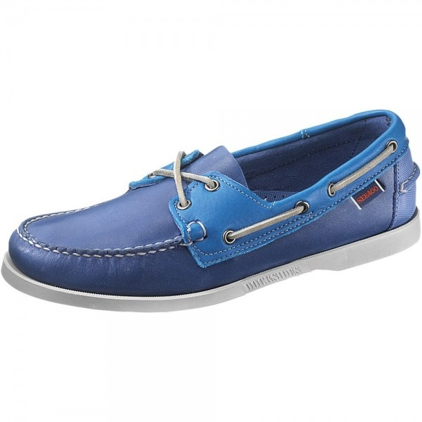 95910dae Sebago Spinnaker B720055 Men's Blue/Bright Blue Shoes - Free Delivery at  Shoes.co.uk