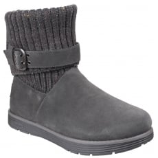 Skechers Adorbs Slip On Ankle Boots Charcoal