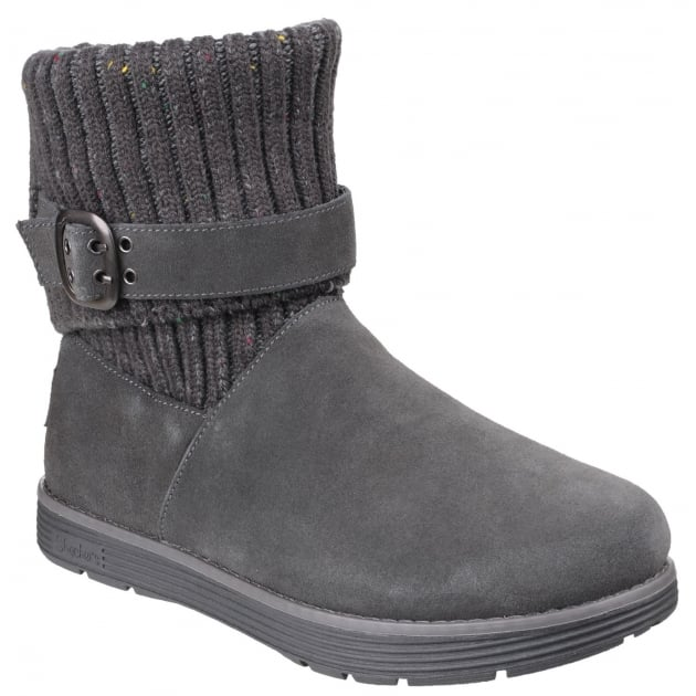 Skechers Adorbs Slip On Ankle Boots Charcoal SK48625