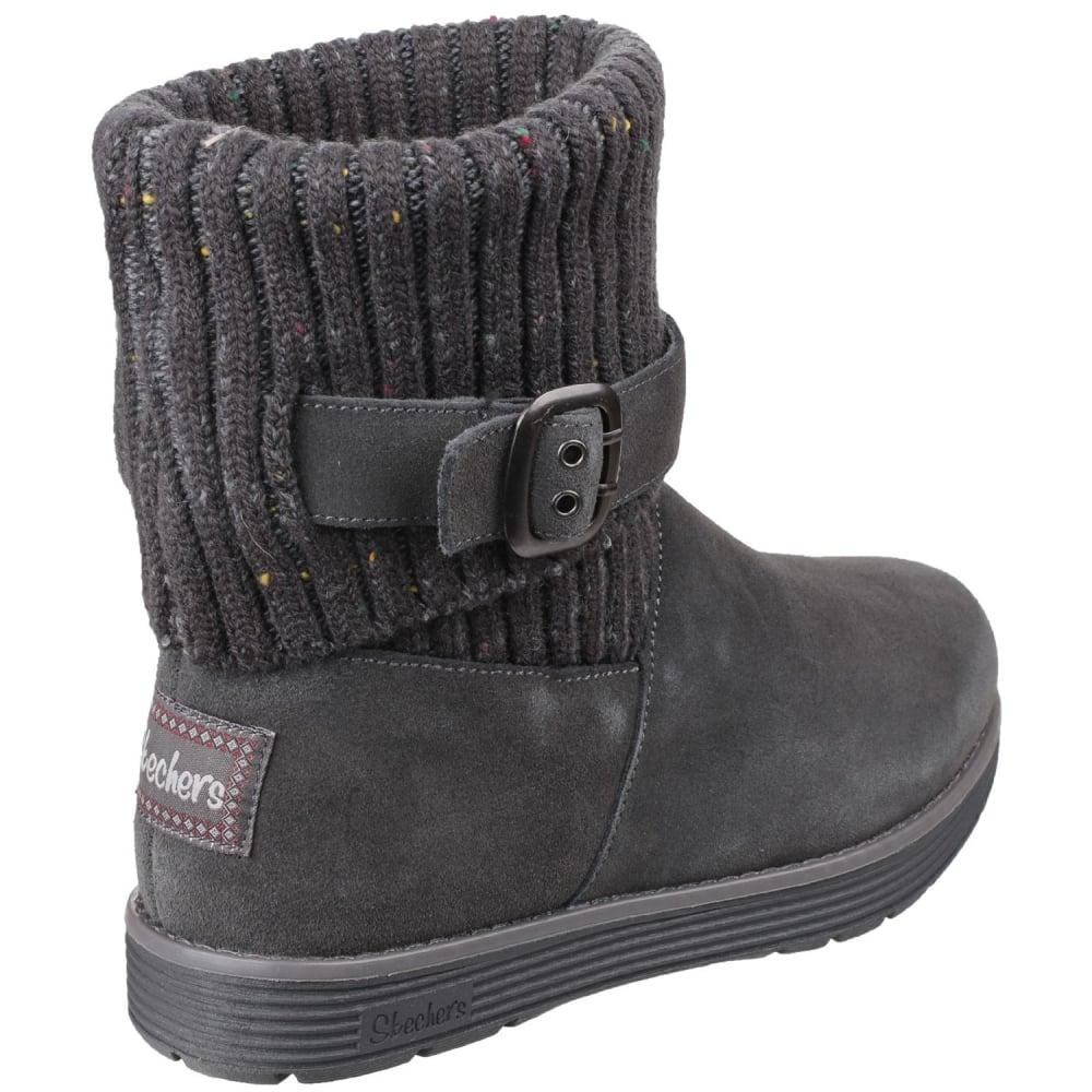 Rabatt-Verkauf neueste auswahl Vielzahl von Designs und Farben Skechers Adorbs Slip On Ankle Women's Charcoal Boots - Free ...
