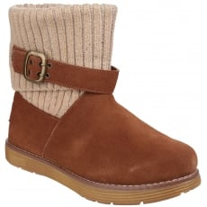 Skechers Adorbs Slip On Ankle Boots Chestnut
