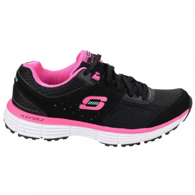 Skechers Agility Perfect Fit Trainer Black/Hot Pink