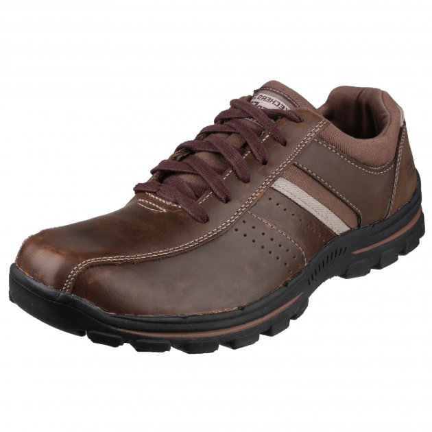 Skechers Braver-Alfano Brown Shoes
