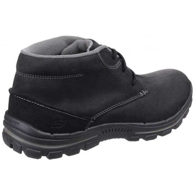Skechers Braver Horatio Lace Up Black Boots