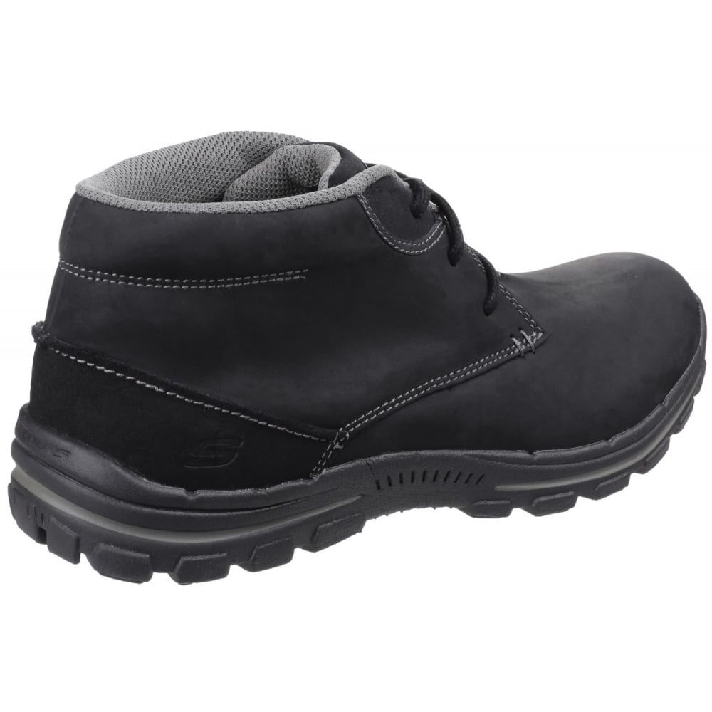 86b96a21f494f Skechers Braver Horatio Lace Up Black Boots - Shoes.co.uk