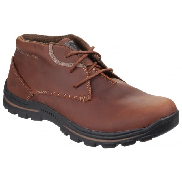 Skechers Braver Horatio Lace Up Dark Brown Boots