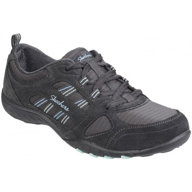 Skechers Breathe Easy - Good Luck Charcoal Sports SK22544