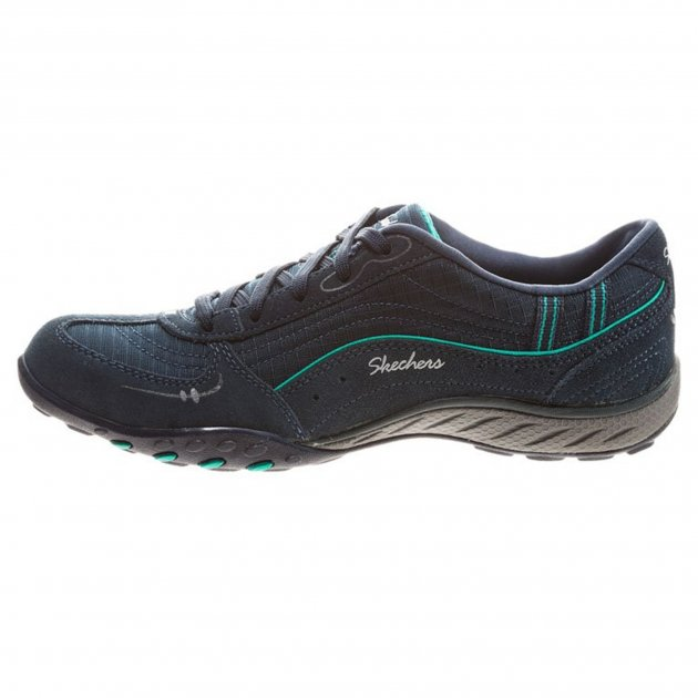Skechers Breathe Easy - Just Relax Sk22459 Navy/Aqua Shoes