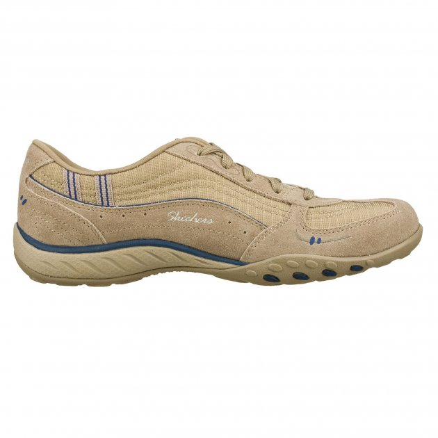 Skechers Breathe Easy - Just Relax Sk22459 Stone/Navy Shoes