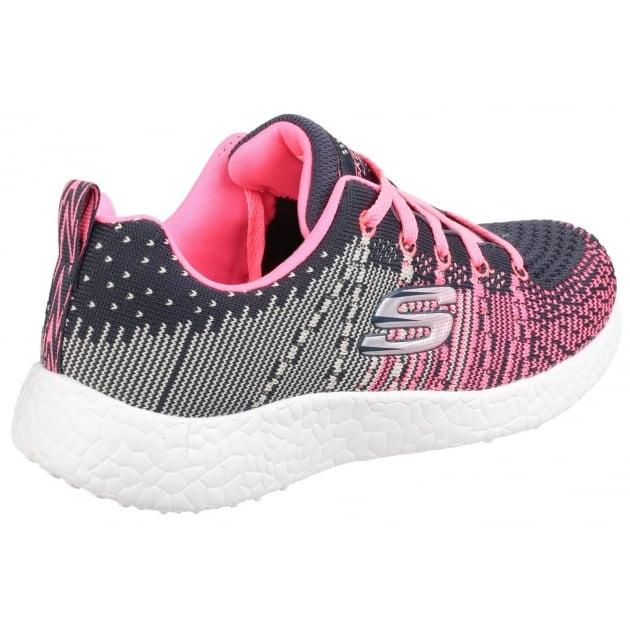 Skechers Burst: Ellipse Charcoal/Pink Girls SK81908L