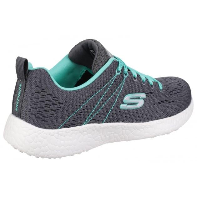 Skechers Burst - Equinox Charcoal/Aqua