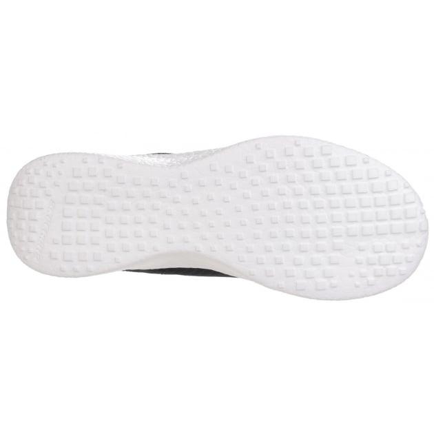 Skechers Burst Second Wind Memory Foam Lace Up Black/White Trainer