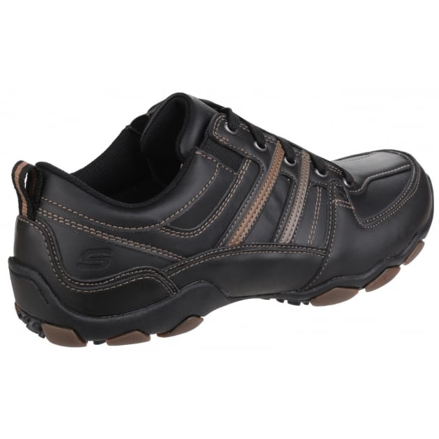 Skechers Diameter Selent Lace Up Black Shoes