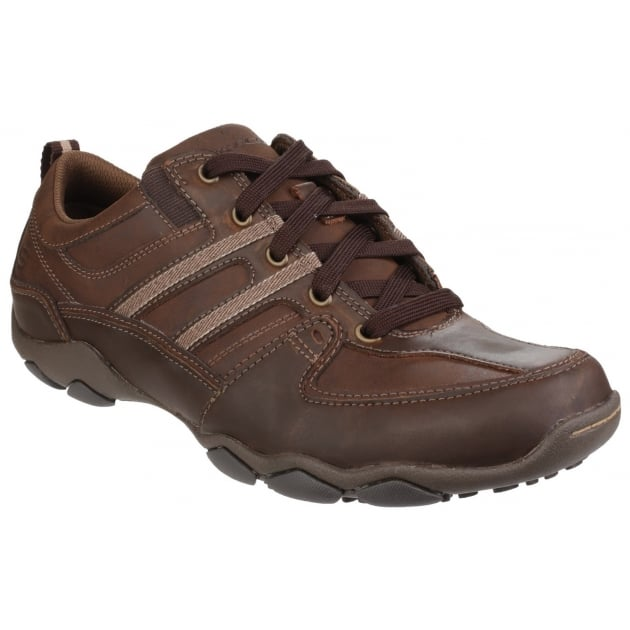 Skechers Diameter Selent Lace Up Dark Brown Shoes