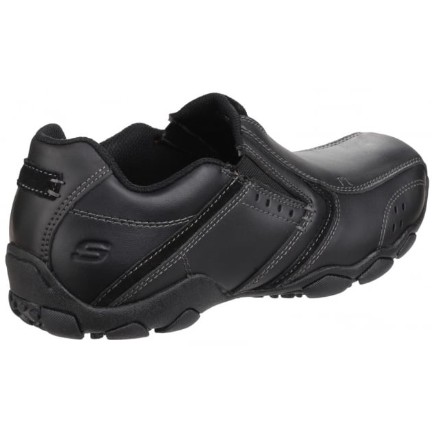 Skechers Diameter Valen Slip On Black Shoes
