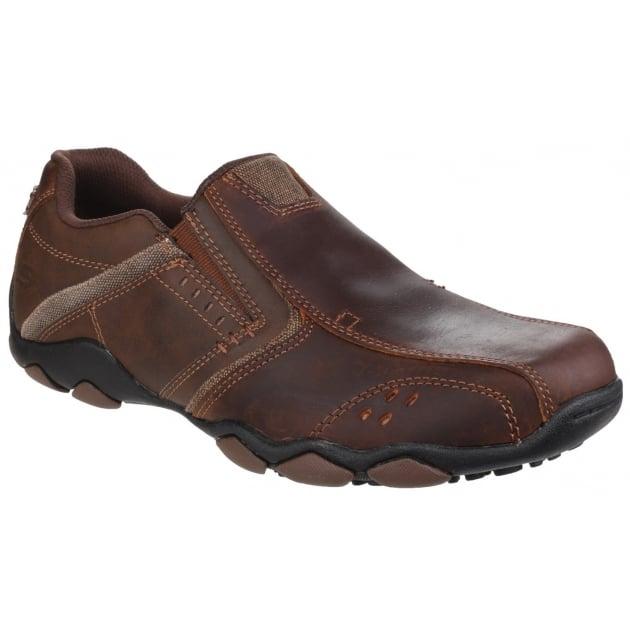 Skechers Diameter Valen Slip On Dark Brown Shoes