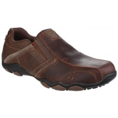 Skechers Diameter Valen Slip On Dark Brown Shoes