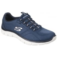 Skechers Empire - Take Charge Elasticated Slip On Sports Shoe Navy Shoes