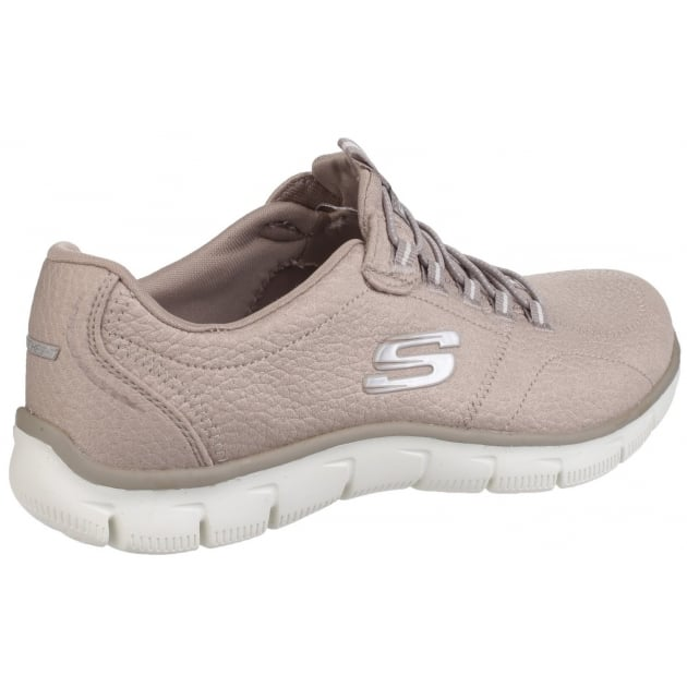 Skechers Empire - Take Charge Elasticated Slip On Sports Shoe Taupe Shoes