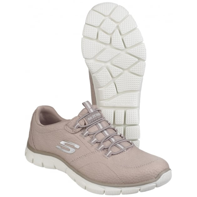 Skechers Empire - Take Charge Elasticated Slip On Taupe