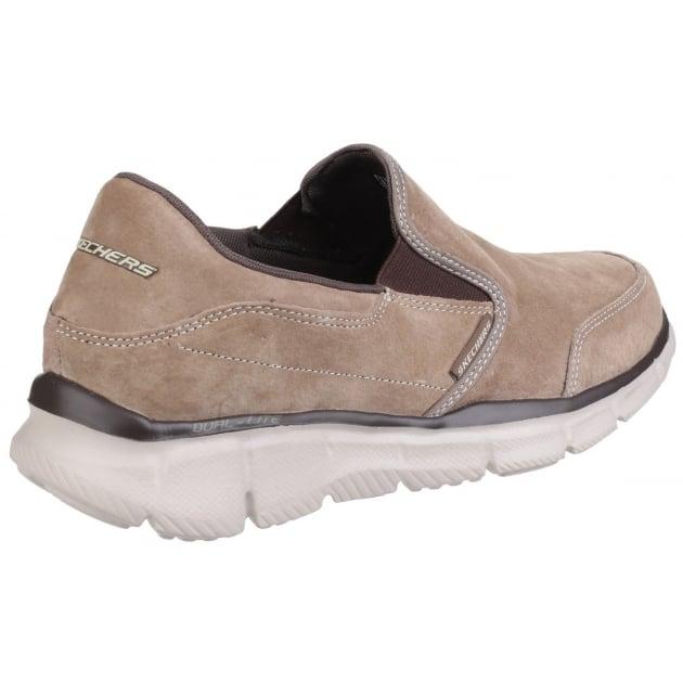 Skechers Equaliser Mind Game Memory Foam Slip On Brown Shoes