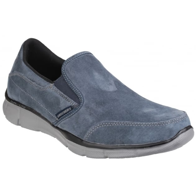 Skechers Equaliser Mind Game Memory Foam Slip On Navy Shoes