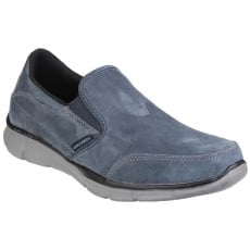 Skechers Equaliser Mind Game Memory Foam Slip On Navy Shoes